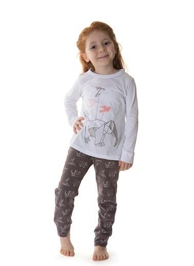 Hays Kız Çocuk Penye 2li Pijama Takımı Mor